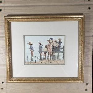E. Van Godhem Framed & Matted Picture